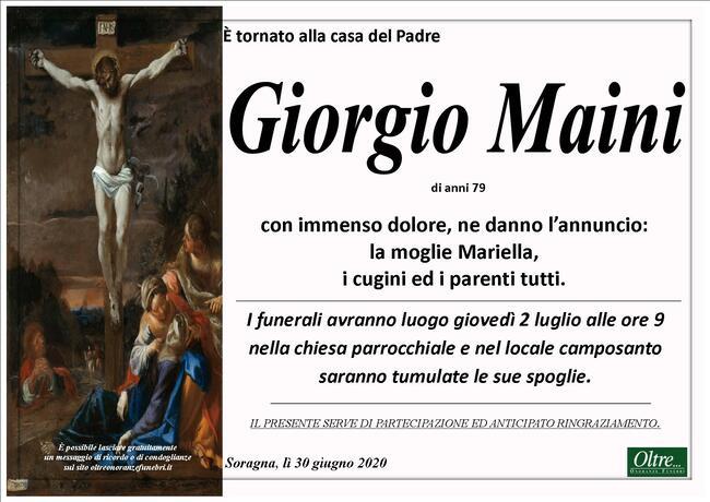 Necrologio di Giorgio Maini