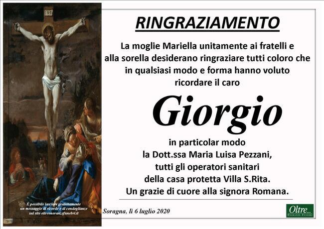 Ringraziamenti per Giorgio Maini