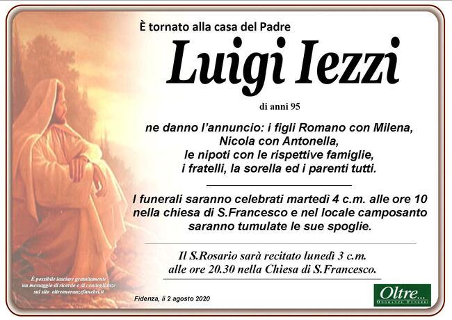 Necrologio di Luigi Iezzi