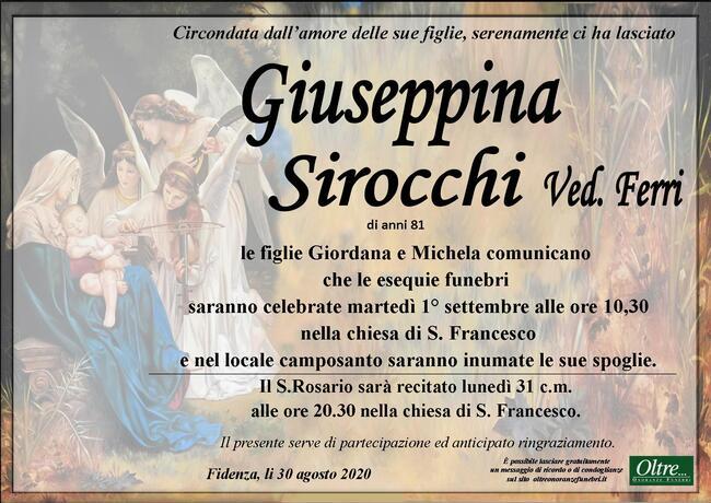 Necrologio di Giuseppina Sirocchi