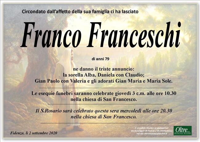 Necrologio di Franco Franceschi