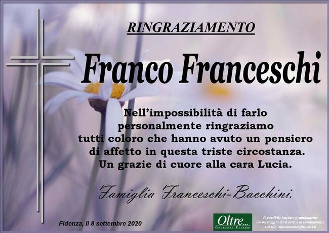 Ringraziamenti per Franco Franceschi