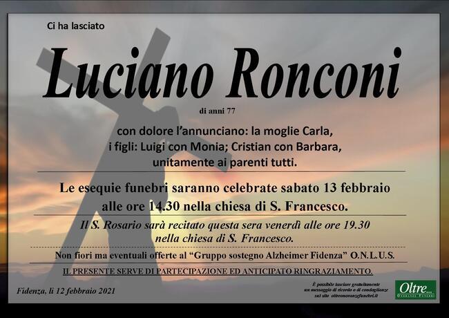 Necrologio di Luciano Ronconi