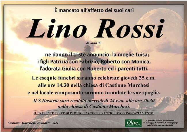 Necrologio di Lino Rossi