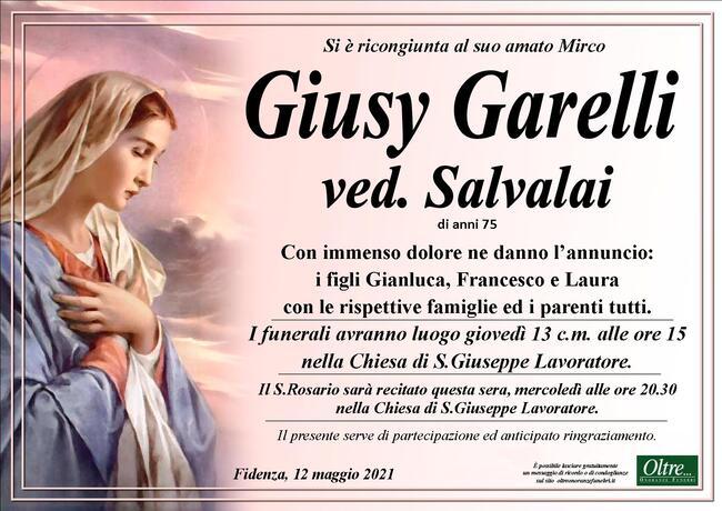 Necrologio di Giusy Garelli ved. Salvalai