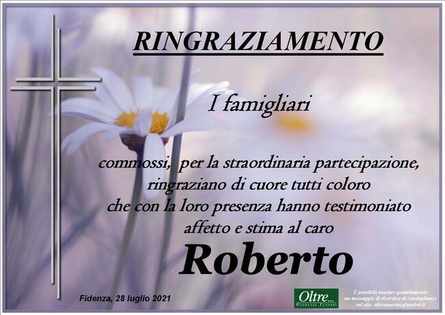 Ringraziamenti per Roberto Besagni
