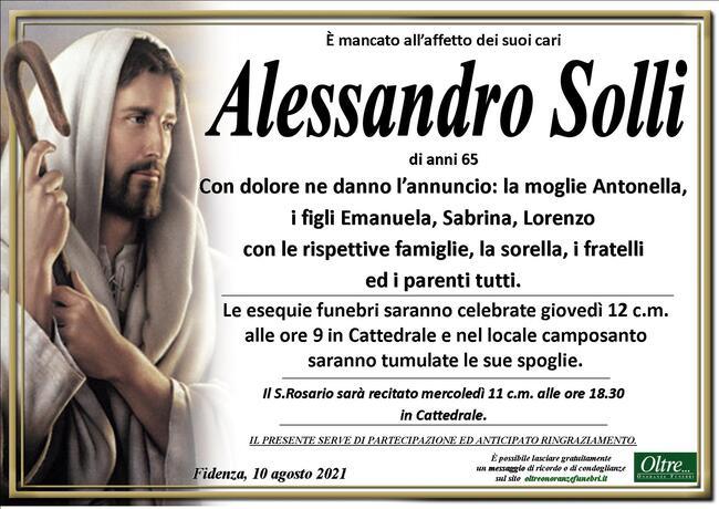 Necrologio di Alessandro Solli