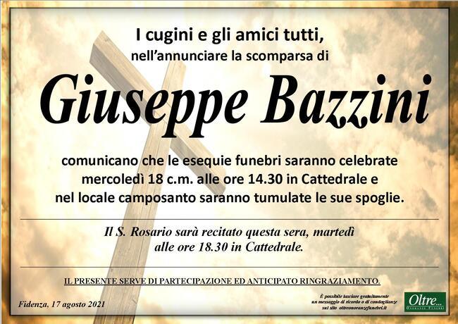 Necrologio di Giuseppe Bazzini