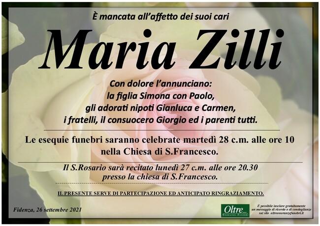 Necrologio di Maria Zilli