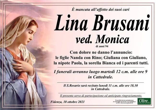 Necrologio di Lina Brusani ved. Monica