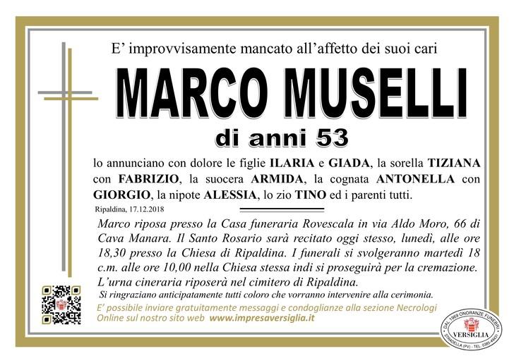 Necrologio di Marco Muselli