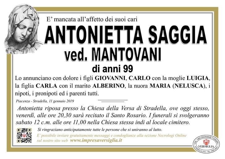 Necrologio di Saggia Antonietta