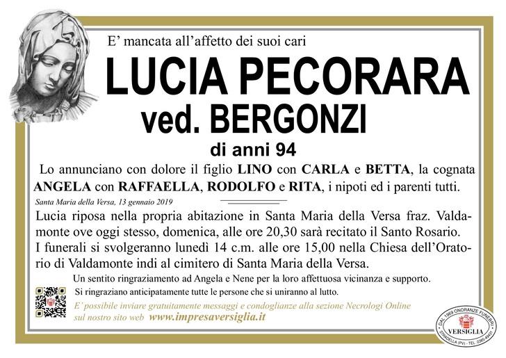 Necrologio di Pecorara Lucia