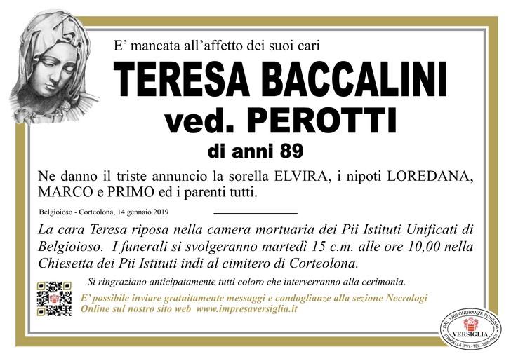 Necrologio di Teresa Baccalini