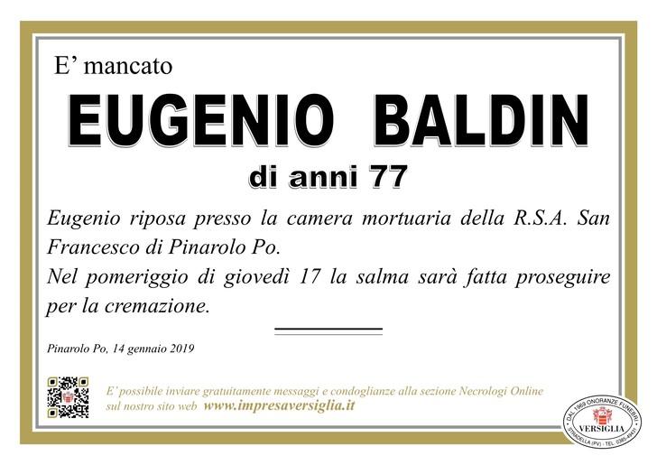 Necrologio di Eugenio Baldin