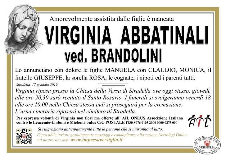 Necrologio di Virginia Abbatinali