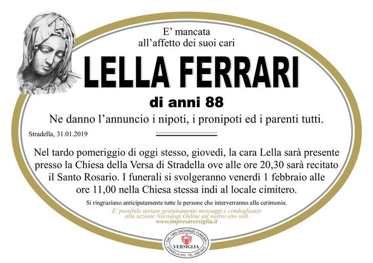 Necrologio di Lella Ferrari