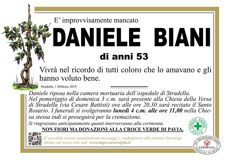 Necrologio di Daniele Biani