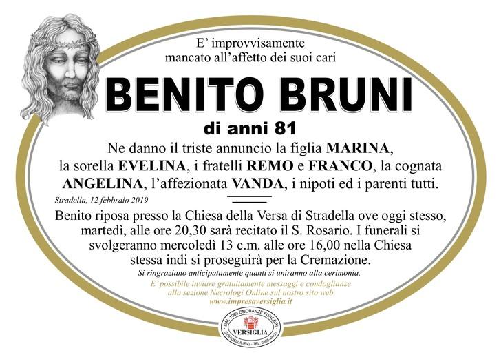 Necrologio di Benito Bruni