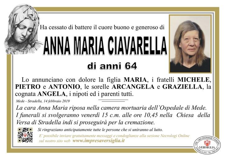 Necrologio di Anna Maria Ciavarella