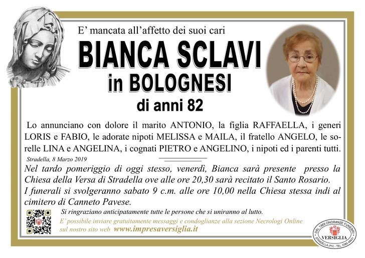 Necrologio di Bianca Sclavi