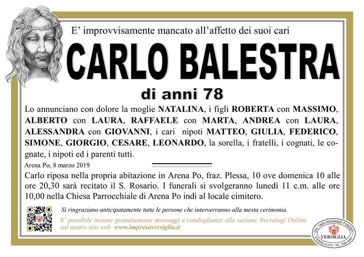 Necrologio di Carlo Balestra