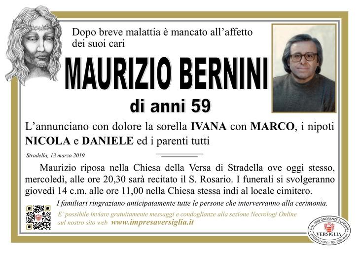 Necrologio di Maurizio Bernini