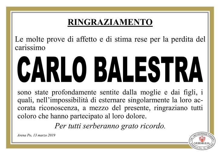 Ringraziamenti per Carlo Balestra