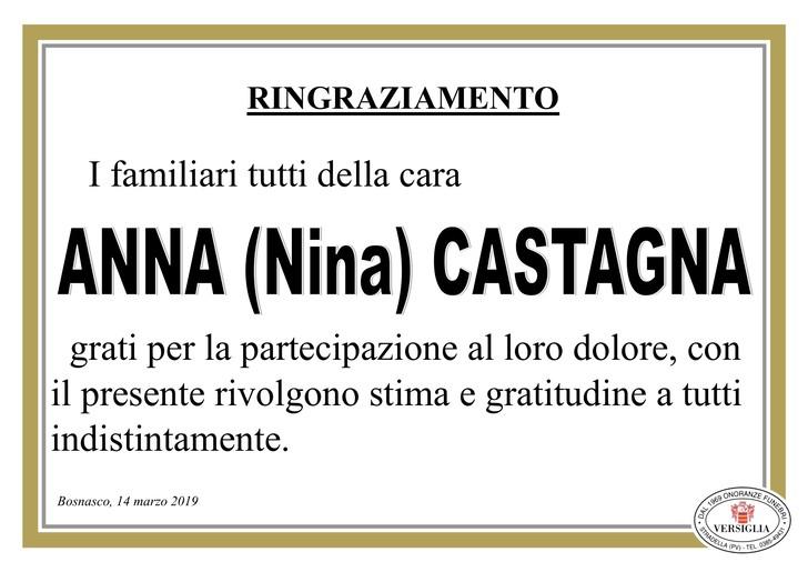 Ringraziamenti per Anna Castagna