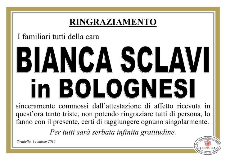 Ringraziamenti per Bianca Sclavi