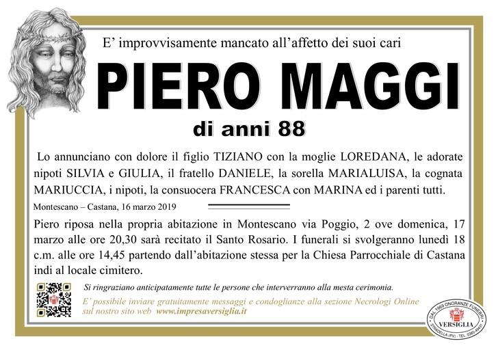 Necrologio di Piero Maggi