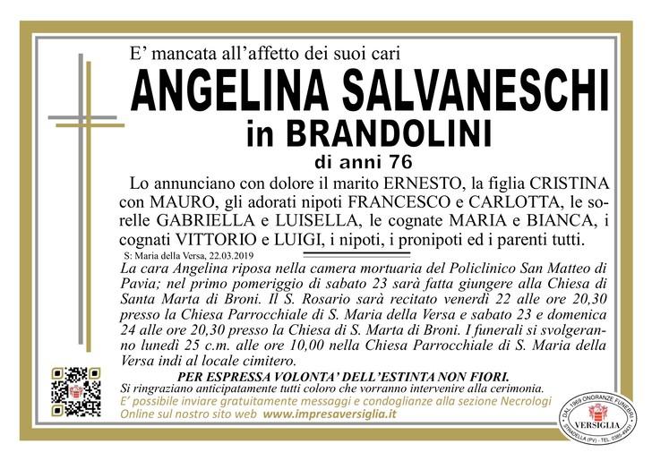 Necrologio di Angelina Salvaneschi