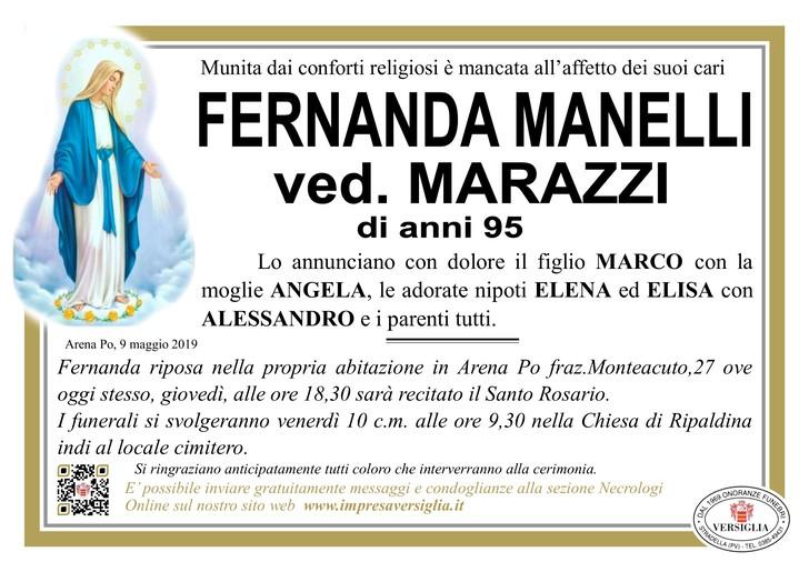 Necrologio di Fernanda Manelli