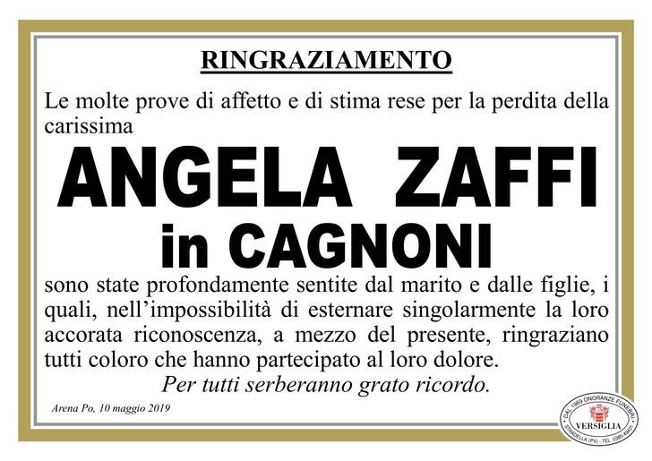 Ringraziamenti per Angela Zaffi