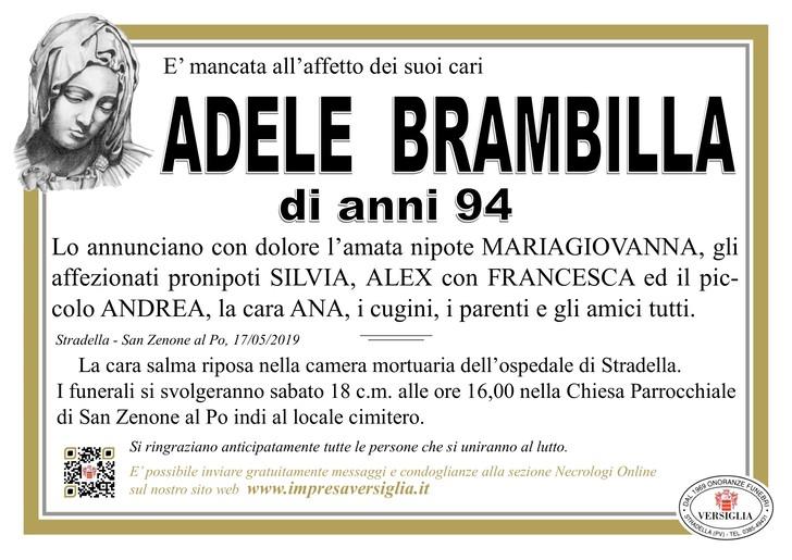 Necrologio di Adele Brambilla