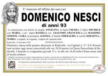 Necrologio di Nesci Domenico