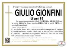 Necrologio di GIONFINI GIULIO