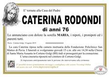 Necrologio di RODONDI CATERINA