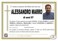Necrologio di MARRO ALESSANDRO
