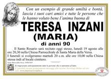 Necrologio di TERESA INZANI