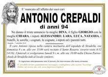 Necrologio di CREPALDI ANTONIO