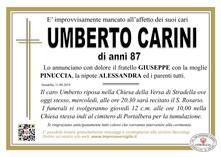 Necrologio di Carini Umberto