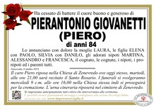 Necrologio di Giovanetti Pierantonio