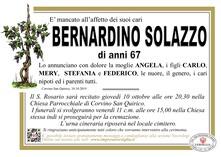Necrologio di SOLAZZO BERNARDINO