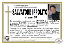 Necrologio di Salvatore Ippolito