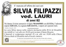 Necrologio di Filipazzi Silvia