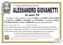 Necrologio di Giovanetti Alessandro