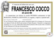 Necrologio di COCCO FRANCESCO