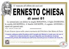 Necrologio di Chiesa Ernesto