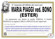 Necrologio di Piaggi Maria